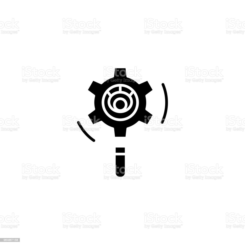 Project analysis black icon concept. Project analysis flat  vector symbol, sign, illustration. royalty-free project analysis black icon concept project analysis flat vector symbol sign illustration stock vector art & more images of analyzing