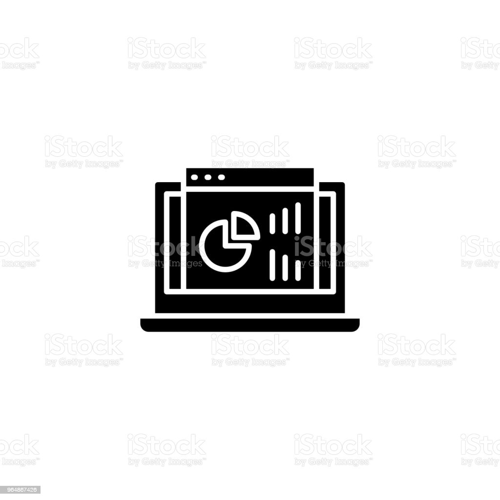 Project dashboard black icon concept. Project dashboard flat  vector symbol, sign, illustration. royalty-free project dashboard black icon concept project dashboard flat vector symbol sign illustration stock vector art & more images of no people