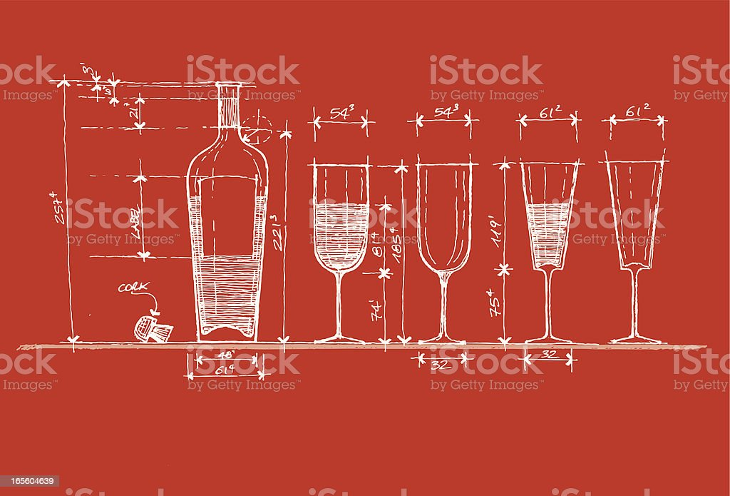 Project for a drink royalty-free stock vector art