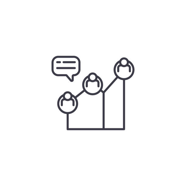 stockillustraties, clipart, cartoons en iconen met project horizon lineaire pictogram concept. project horizon lijn vector teken, symbool, afbeelding. - hdri landscape