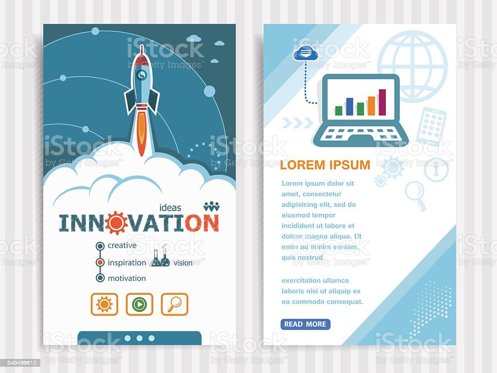 Project Innovation concepts and Set of Banners. vector art illustration