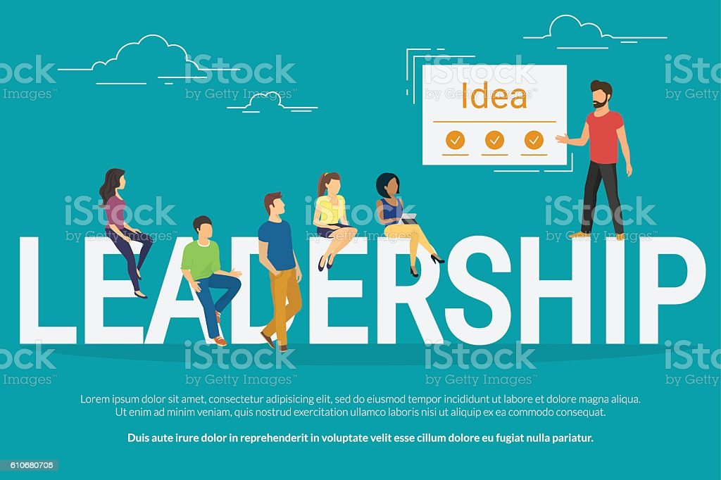 Project leadership concept illustration of business people working together as – Vektorgrafik