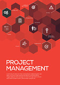 Project Management. Brochure Template Layout, Cover Design