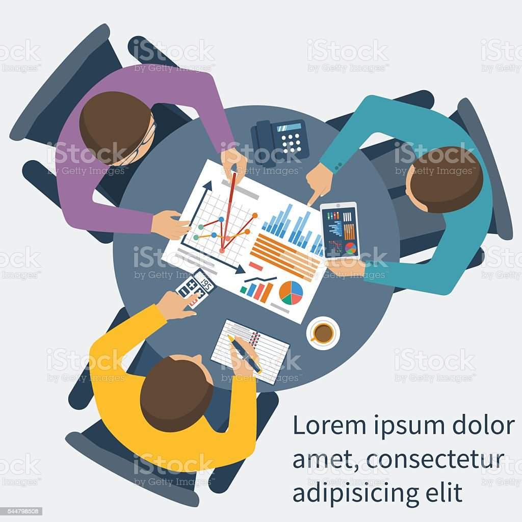 Project management concept vector art illustration