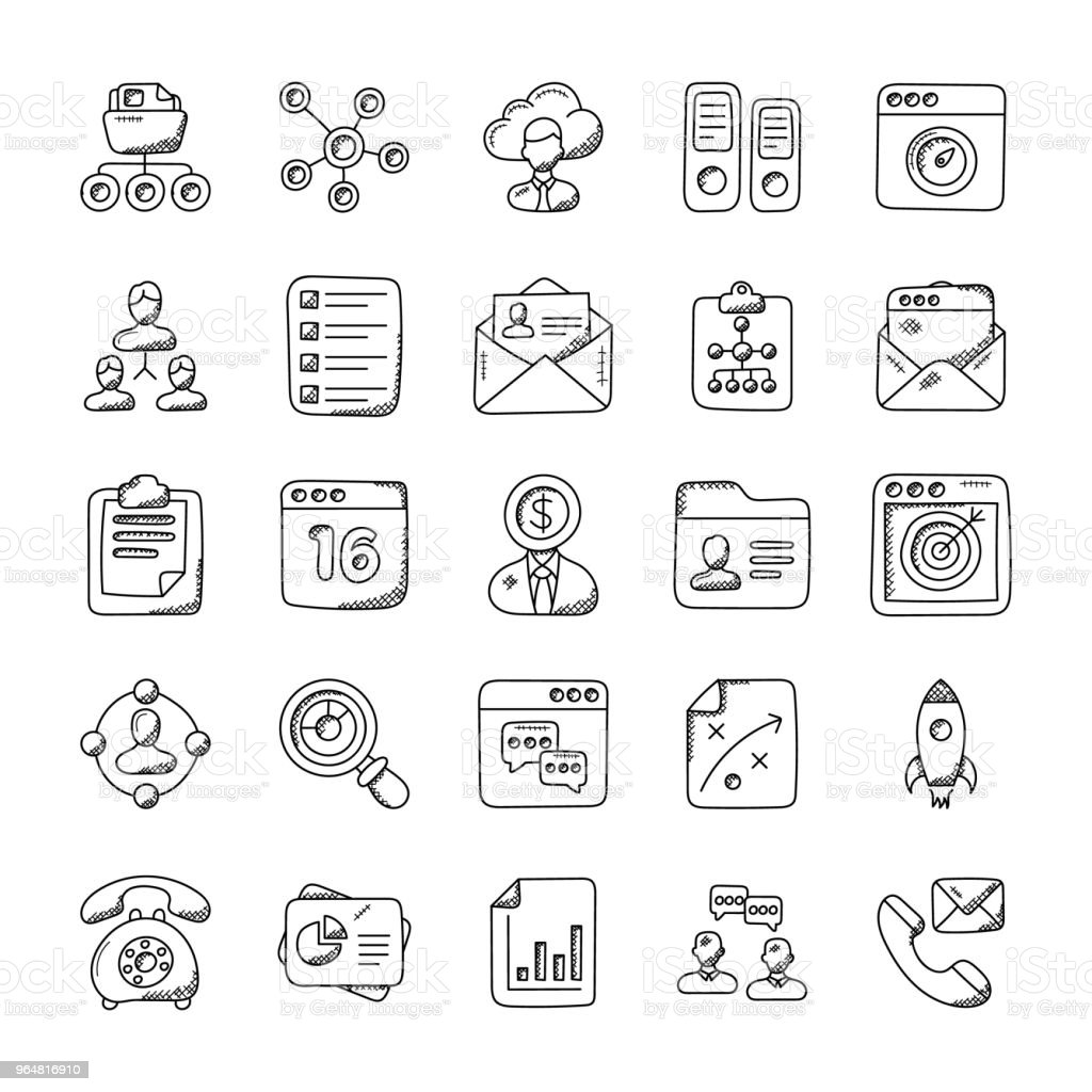 Project Management Doodle Vector Icons royalty-free project management doodle vector icons stock vector art & more images of archives