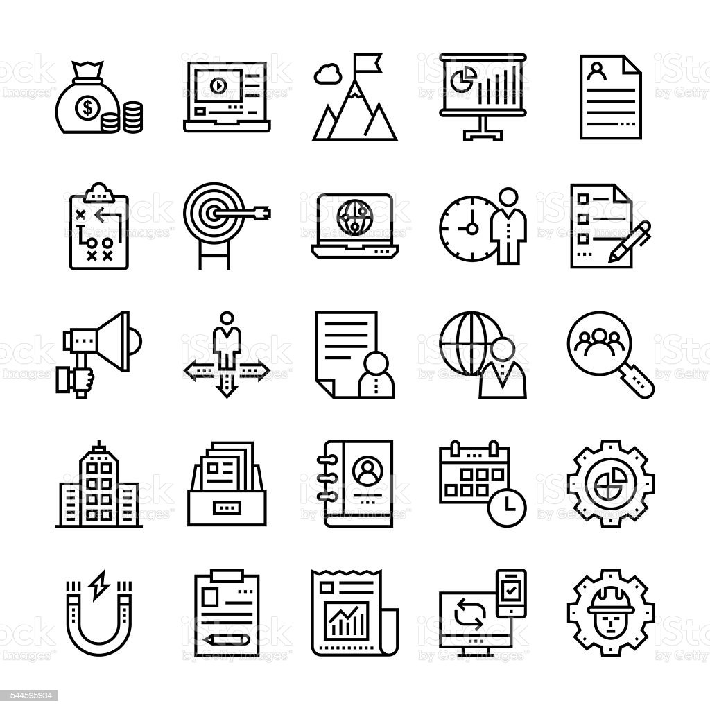 Project Management Vector Icons 2 vector art illustration
