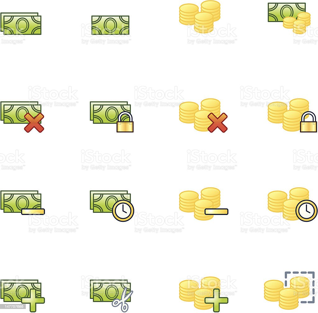 project money icons royalty-free stock vector art