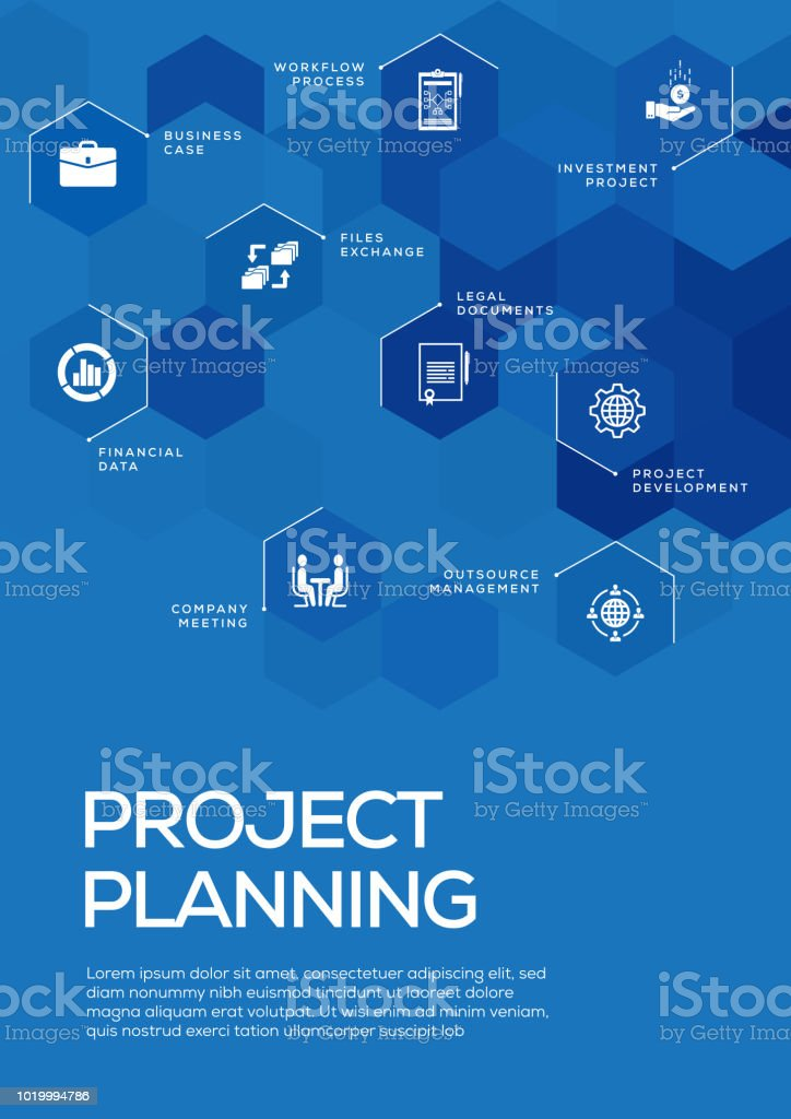 project planning brochure template layout cover design stock vector