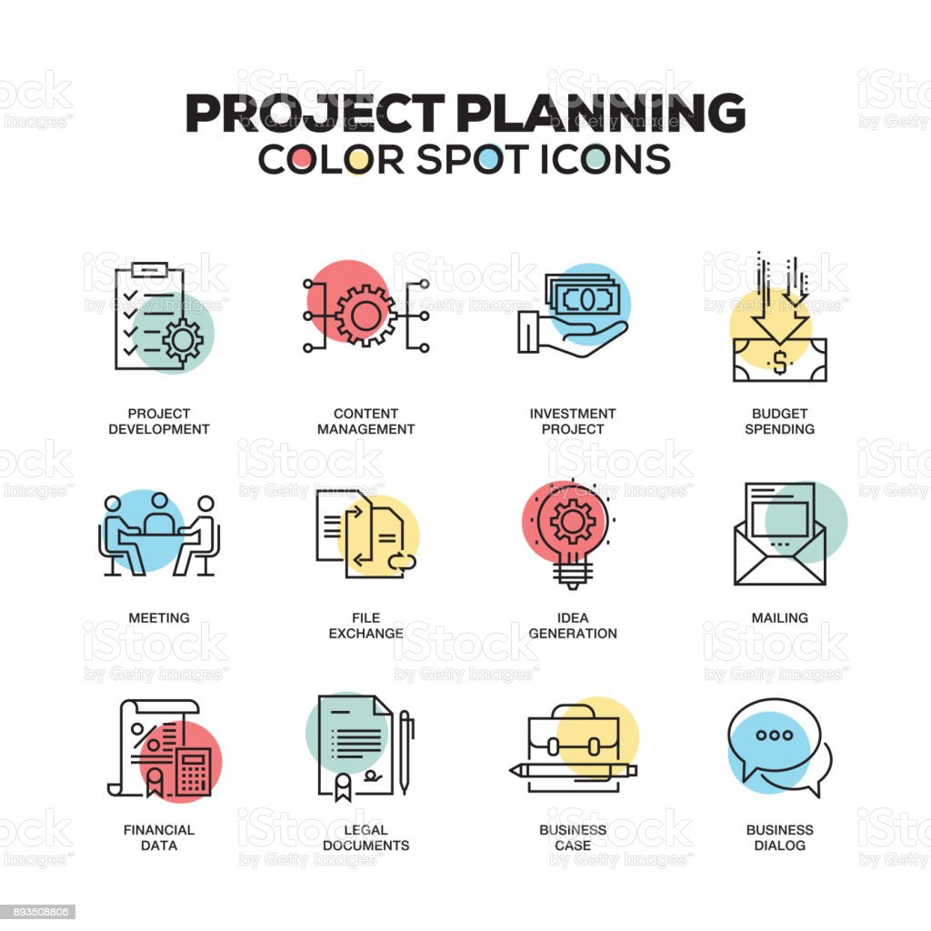 project planning icons vector line icons set premium quality modern