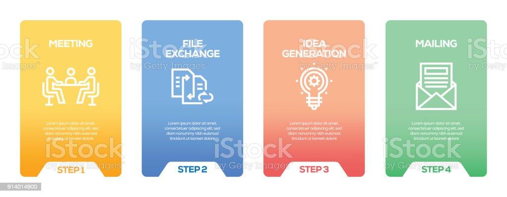 Ilustración de Plantilla De Infografía Diseño De Planificación De ...