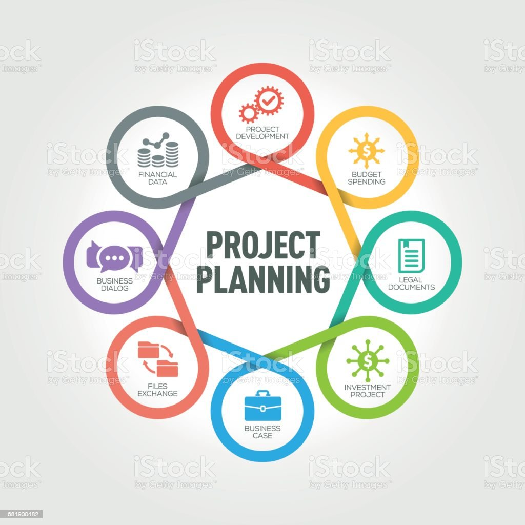 Project Planning infographic with 8 steps, parts, options Lizenzfreies project planning infographic with 8 steps parts options stock vektor art und mehr bilder von arbeiten
