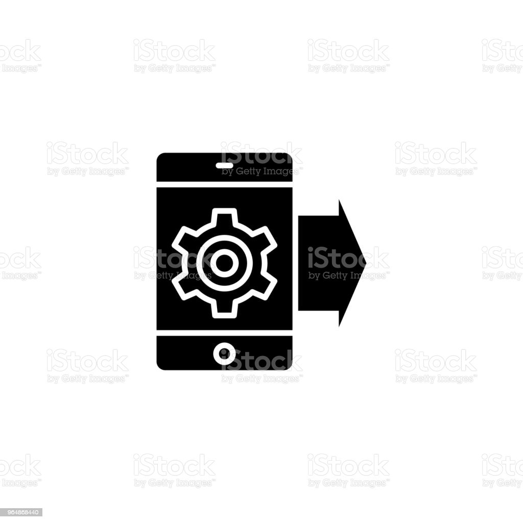 Project promotion black icon concept. Project promotion flat  vector symbol, sign, illustration. royalty-free project promotion black icon concept project promotion flat vector symbol sign illustration stock vector art & more images of agreement
