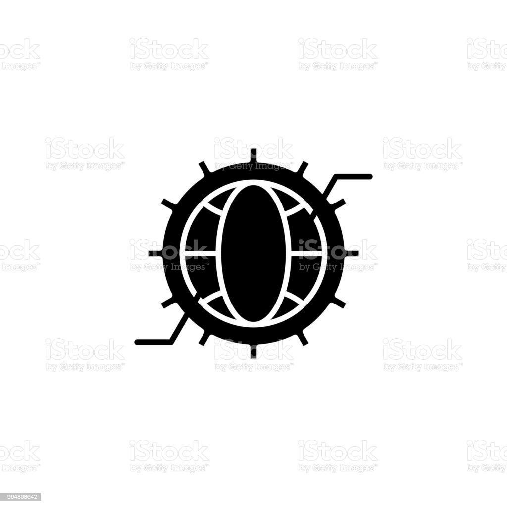 Conceito de ícone preto do projeto pesquisa. Símbolo de vetor plana do projeto pesquisa, sinal, ilustração. - Vetor de Abstrato royalty-free