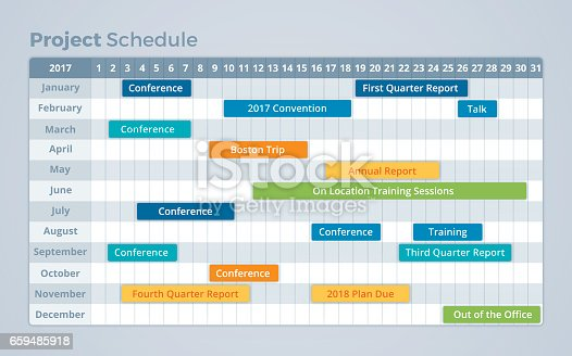 Project Schedule Calendar Timeline Stock Vector Art