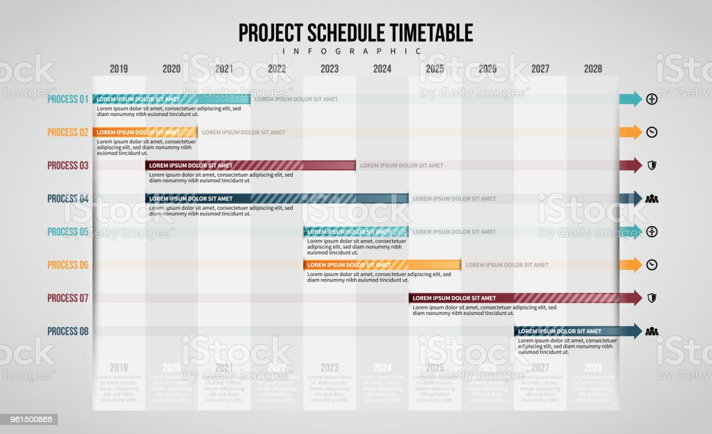 Project Schedule Timetable Infographic Stock Vector Art & More ...