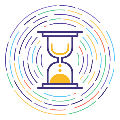 Project Scheduling Line Icon Illustration