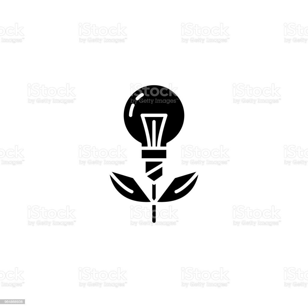 專案啟動黑色圖示概念。專案啟動平面向量符號, 符號, 插圖。 - 免版稅上衣圖庫向量圖形