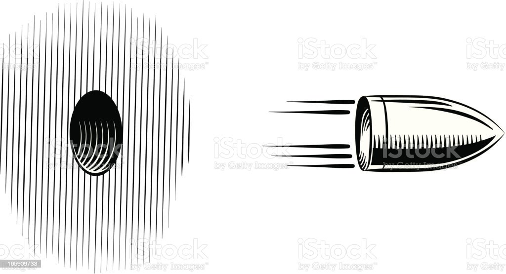 projectile fired vector art illustration