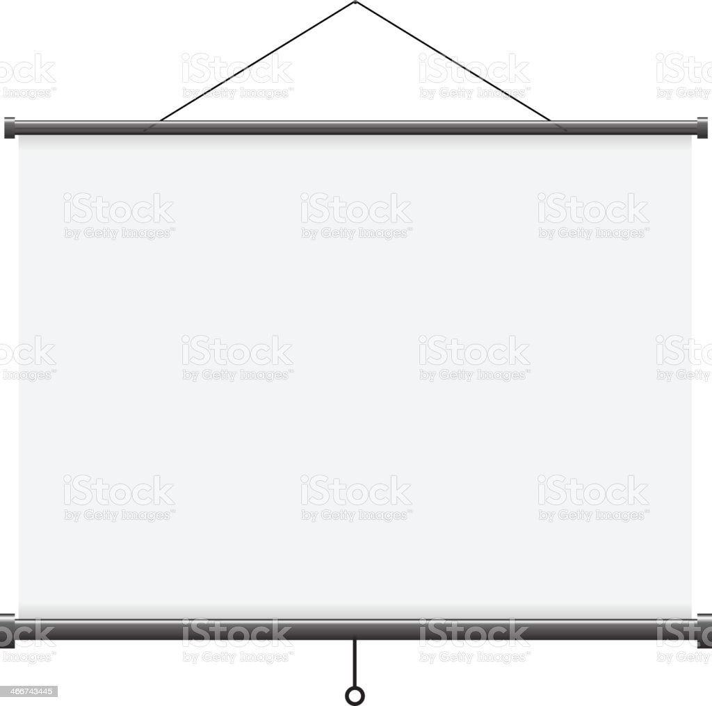 Projection screen - Illustration vector art illustration
