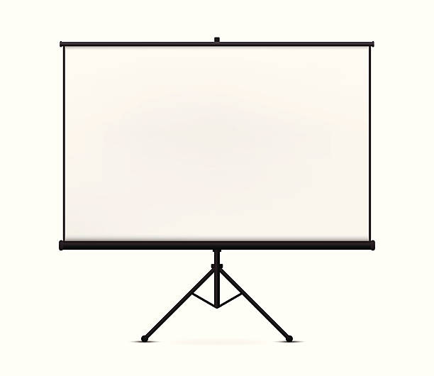 Projection Screen Projection Screen on white background. projection screen stock illustrations