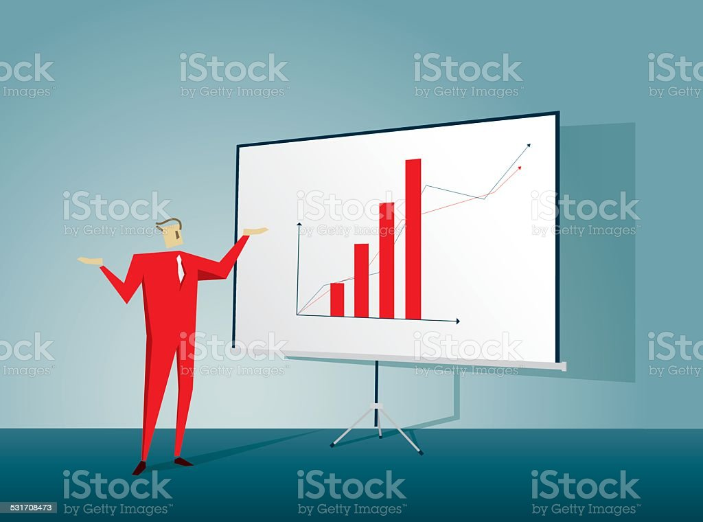 Projection Screen vector art illustration