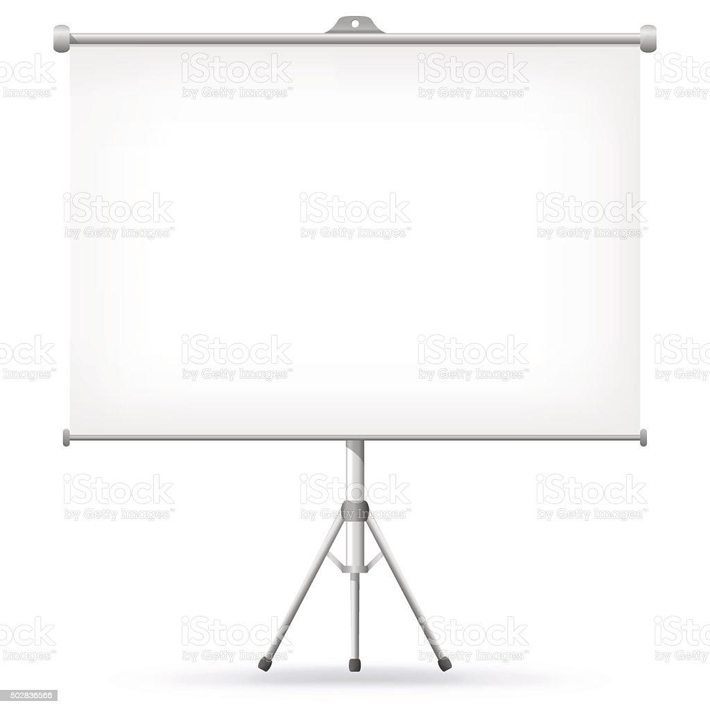 Projection Screen Vector Illustration. vector art illustration