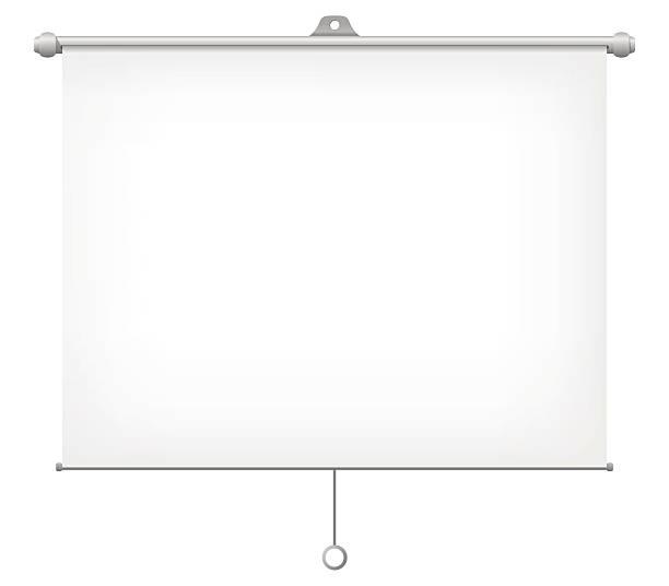 Projection Screen Vector Illustration. Blank Projection Screen Vector Illustration with white background. projection screen stock illustrations