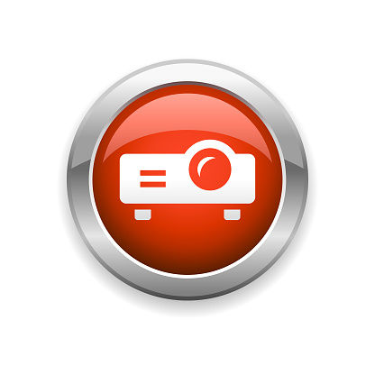 Projector Glossy Icon