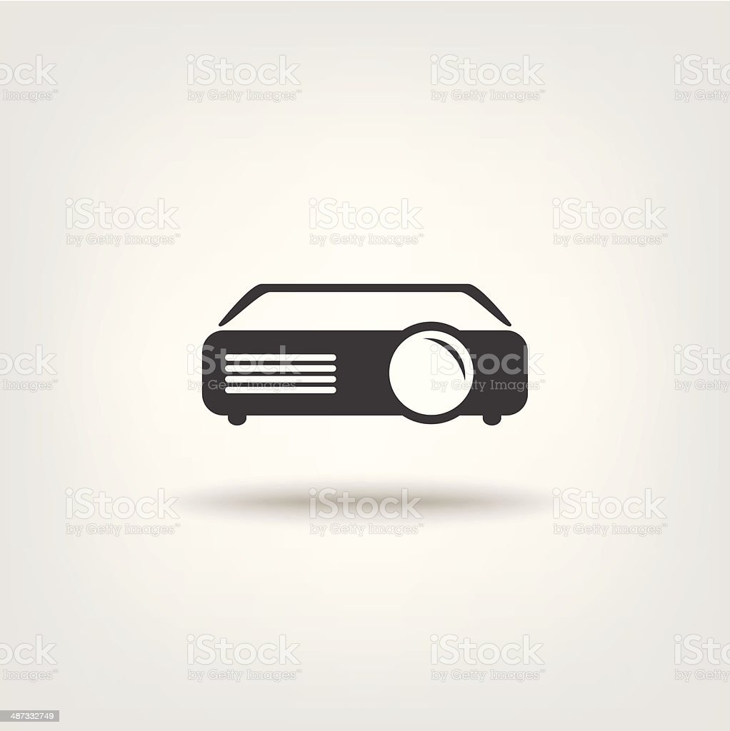 Projector sign icon vector art illustration