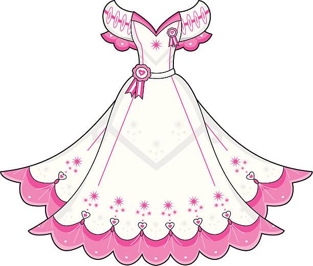 Prom Ball Gown vector art illustration