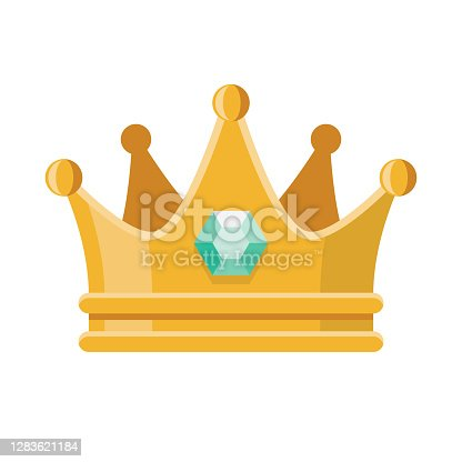 istock Prom Crown Icon on Transparent Background 1283621184
