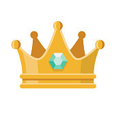 Prom Crown Icon on Transparent Background