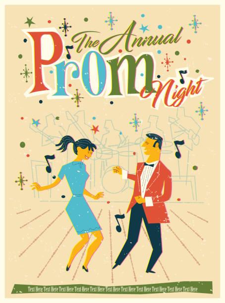 ilustrações, clipart, desenhos animados e ícones de véspera do baile de finalistas - baile de graduação