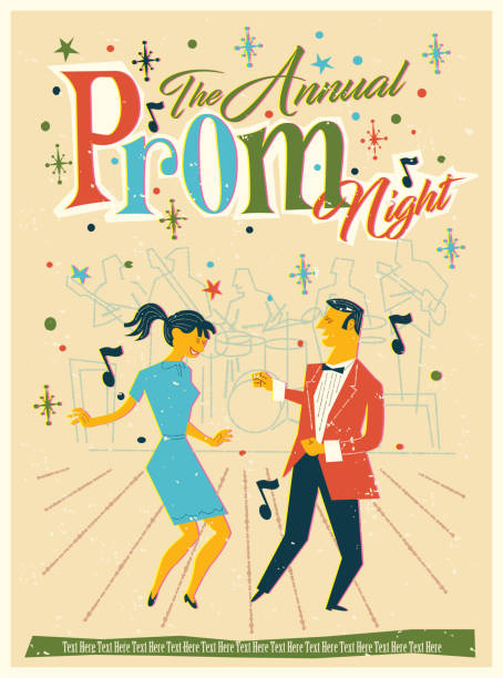prom eve - prom fashion stock illustrations, clip art, cartoons, & icons