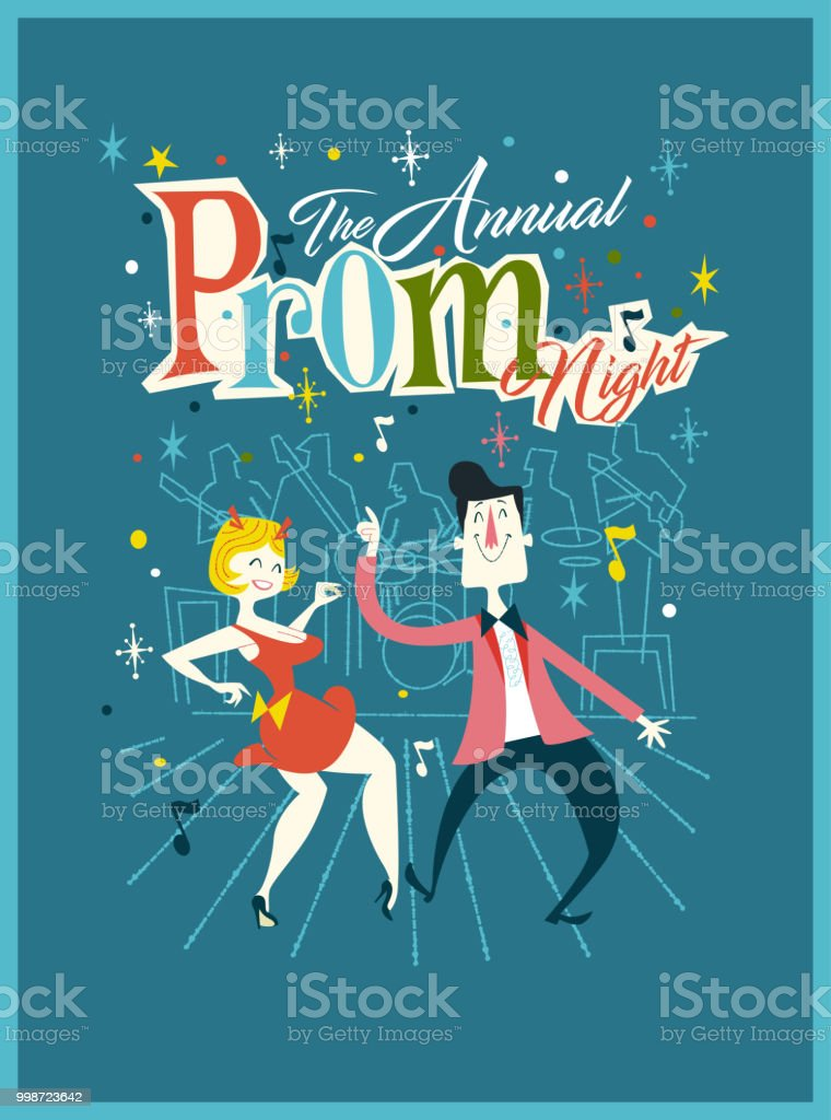 Prom Eve vector art illustration