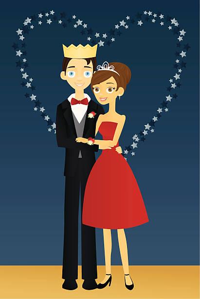 ilustrações, clipart, desenhos animados e ícones de prom cama king-size e cama queen-size - baile de graduação