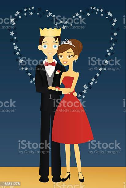 Prom King And Queen Stock Illustration - Download Image Now