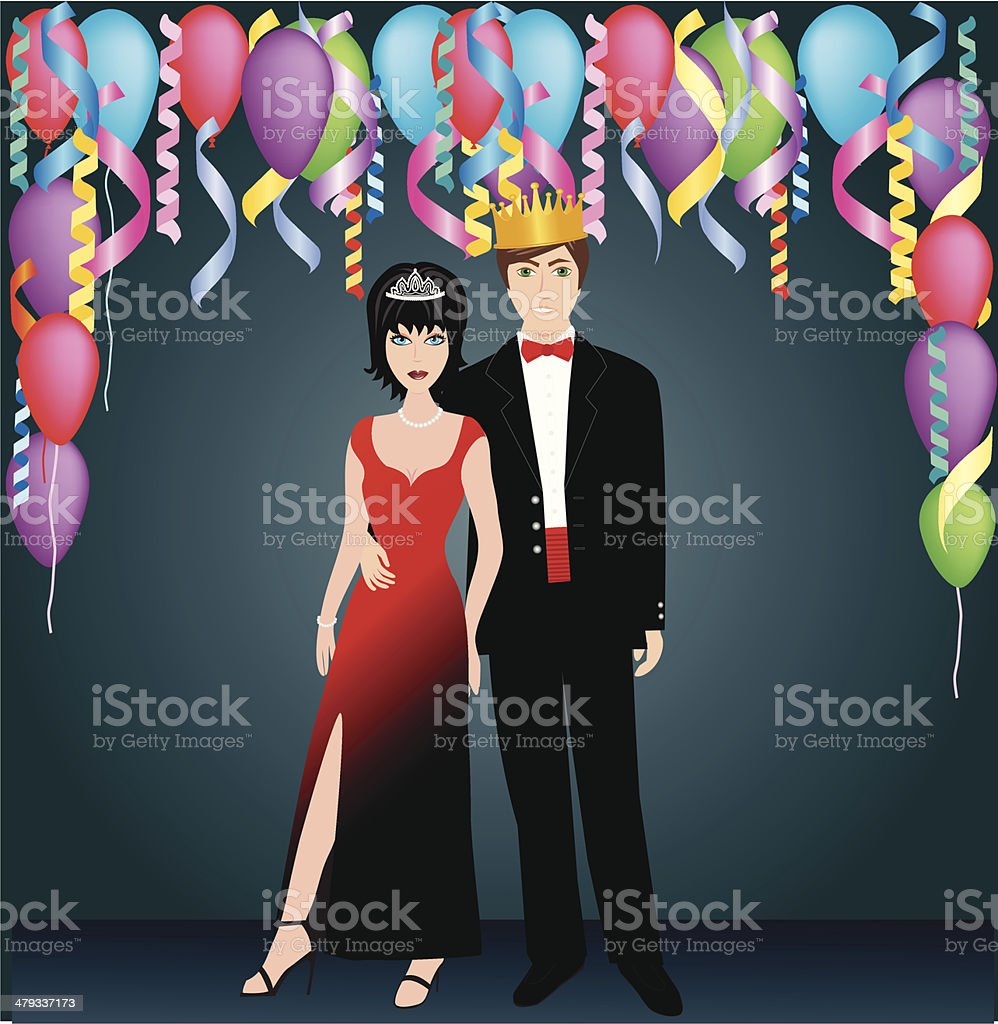 Prom Royalty vector art illustration