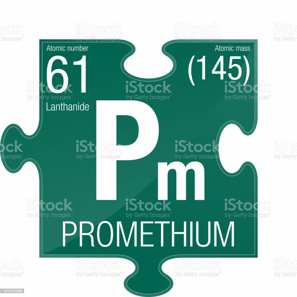 Ilustracin de smbolo del prometio elemento nmero 61 de la tabla elemento nmero 61 de la tabla peridica de los elementos qumica urtaz Images