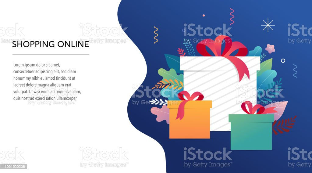 promo christmas new year banner sale poster and flyer with gift boxes and xmas