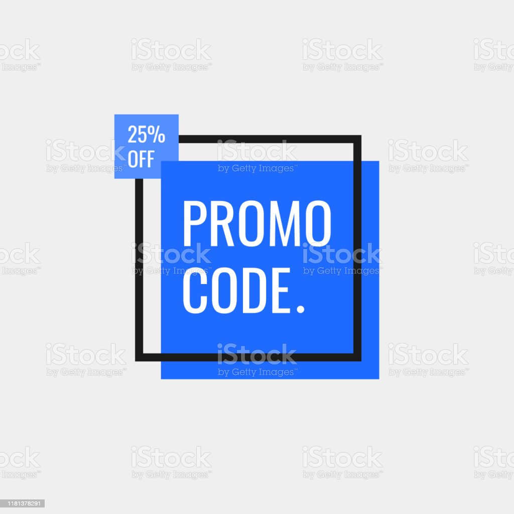 Promo Code Coupon Code 25 Percent Off Geometric Banners Flat Style Vector Illustration Stock Illustration Download Image Now Istock