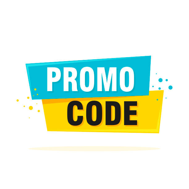Promo-Code, Gutscheincode. Flachvektor-Set-Design-Illustration auf weißem Hintergrund – Vektorgrafik