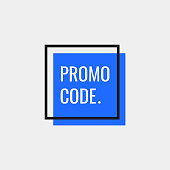 Promo code, coupon code. Geometric banners. Flat style vector illustration.