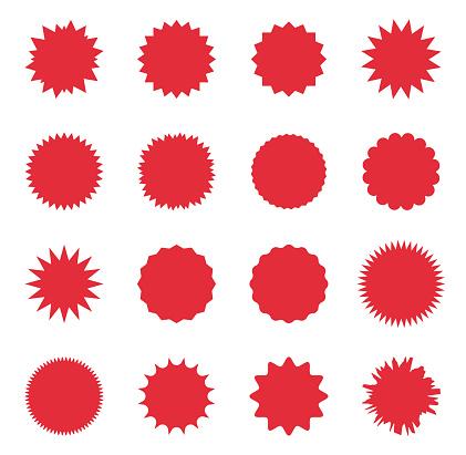 promo sale starburst, special offer sale label, sunburst promo tag