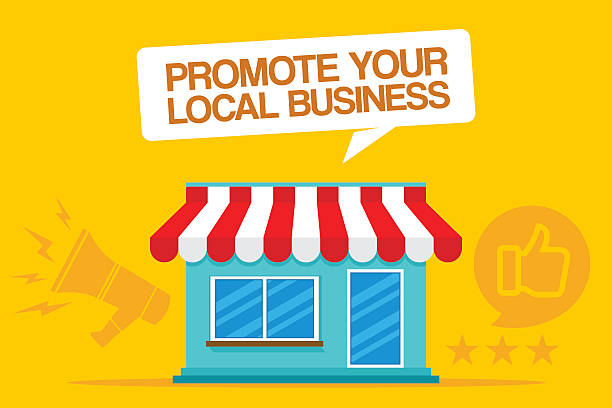 promote your local business - small business stock illustrations