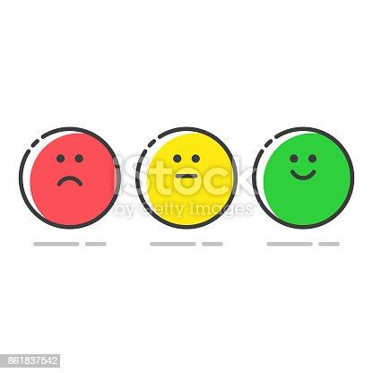 Vector illustration of a collection of promoter score icons