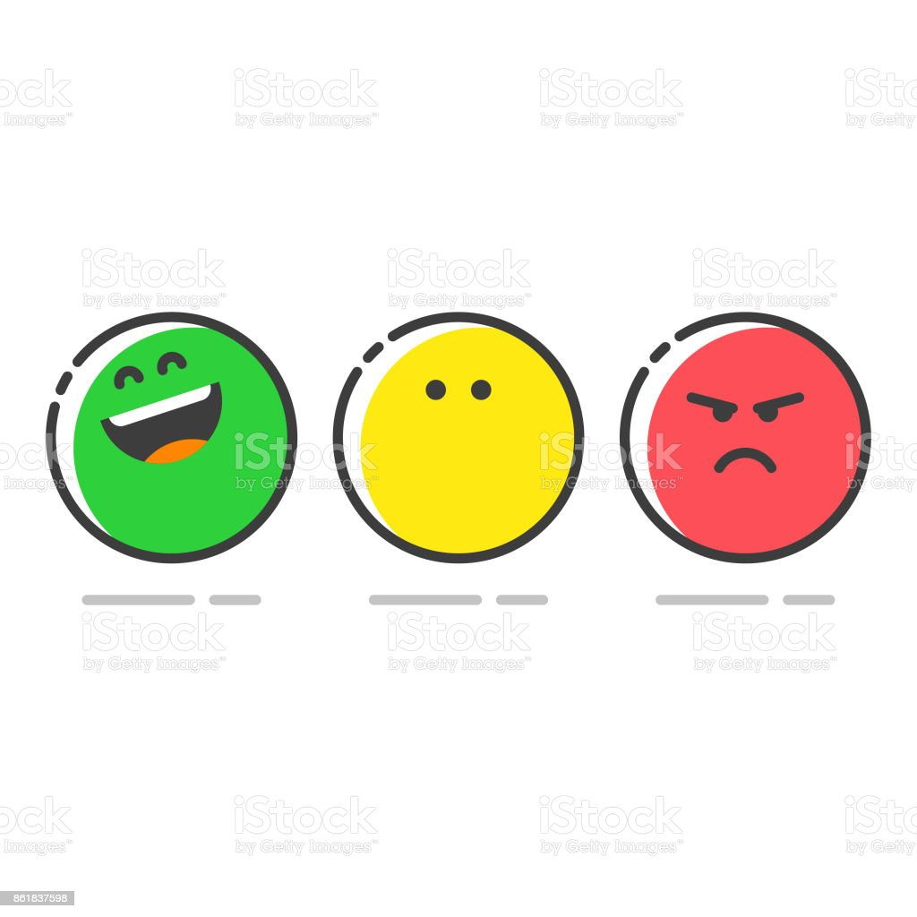 Promoter score icons set vector art illustration