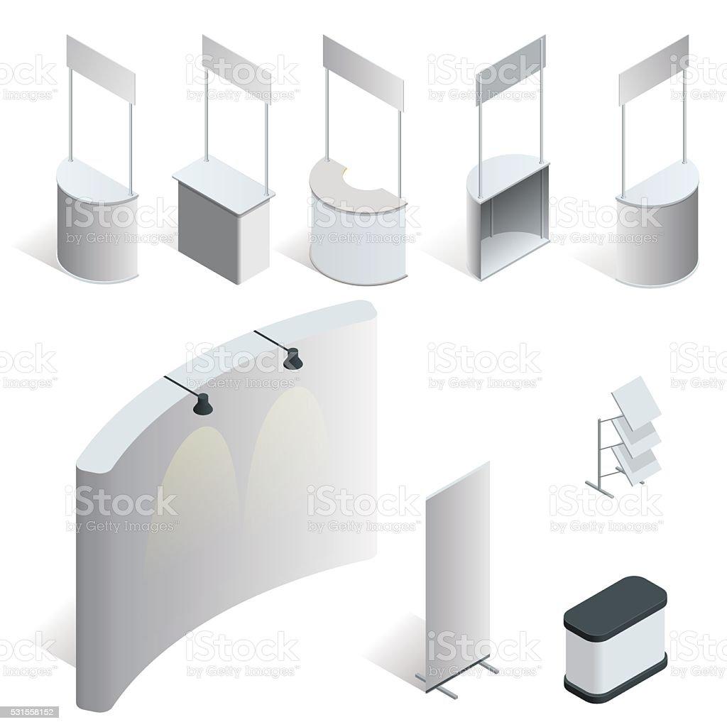 Promotion counter set. vector art illustration