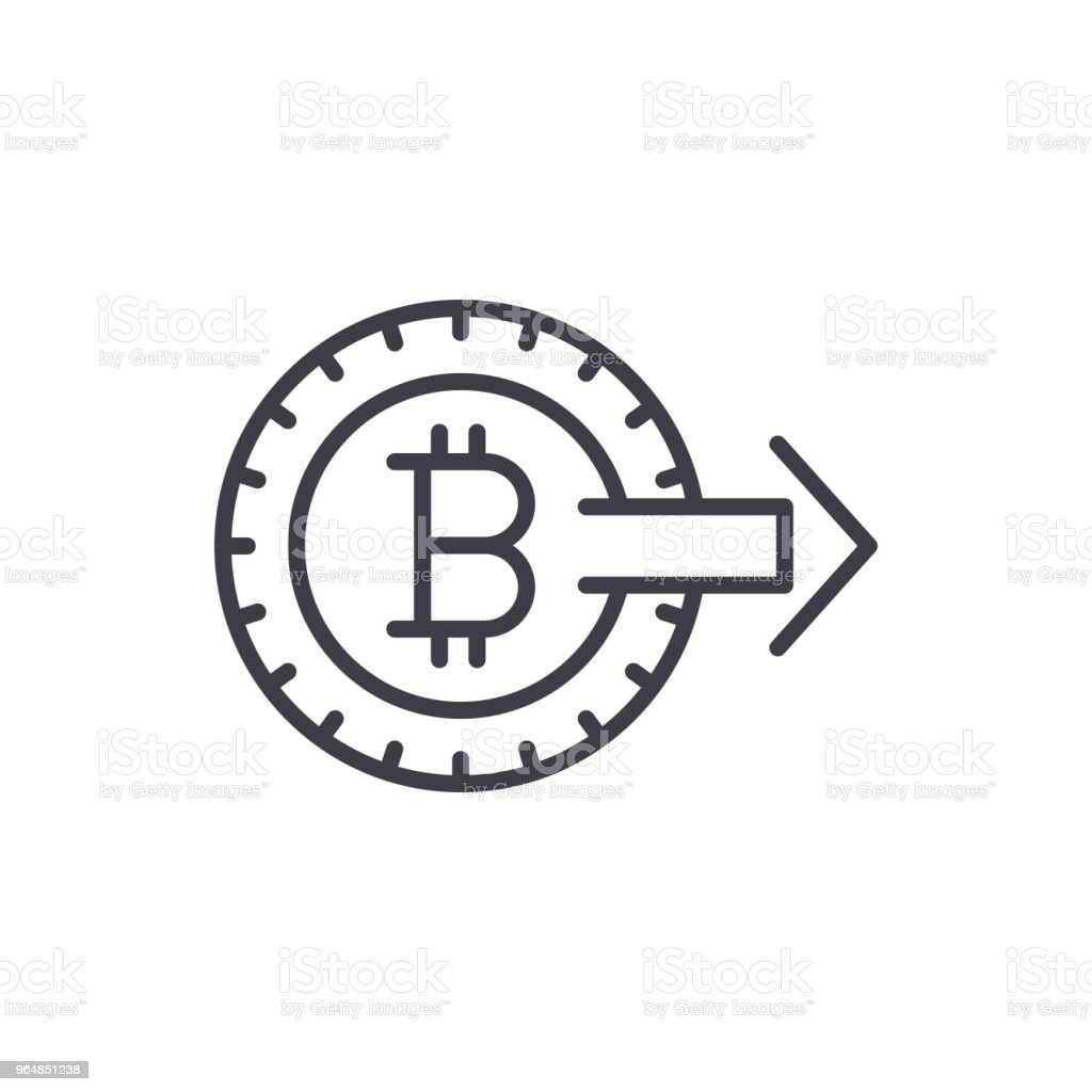 Promotion of bitcoin black icon concept. Promotion of bitcoin flat  vector symbol, sign, illustration. royalty-free promotion of bitcoin black icon concept promotion of bitcoin flat vector symbol sign illustration stock vector art & more images of backgrounds