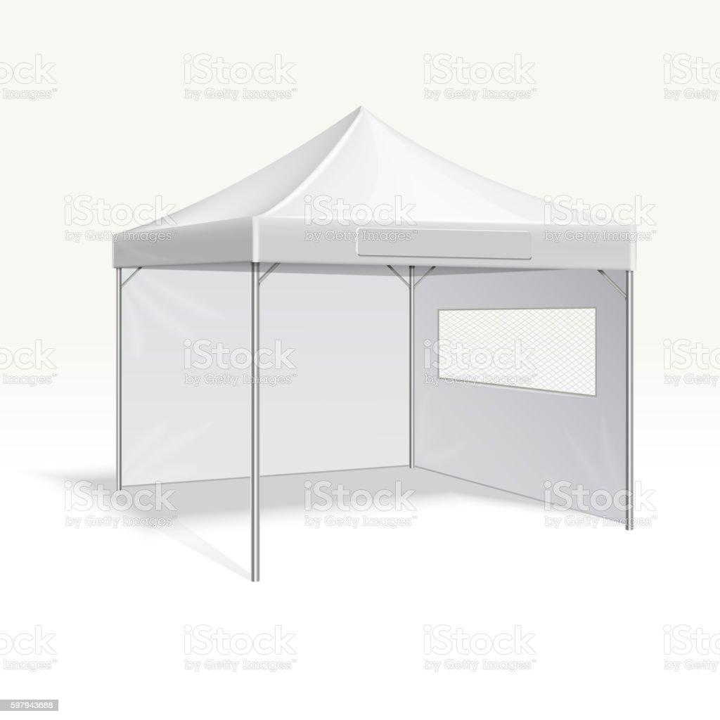 Promotional advertising folding tent vector illustration for outdoor event ilustração de promotional advertising folding tent vector illustration for outdoor event e mais banco de imagens de acampar royalty-free